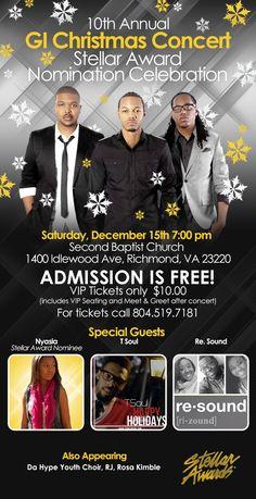 GI Free Christmas Concert - Dec. 15th 7pm - Richmond, VA