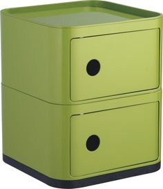 Green Plastic Storage Box Square 2 layers units Boxes