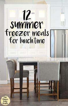 Healthy Meals For Kids 12 summer freezer meals for lunchtime Healthy Meals For Kids, Healthy Foods To Eat, Summer Lunch Menu, Summer Lunches, School Lunches, Lunch Recipes, Summer Recipes, Freezer Recipes, Home Renovation