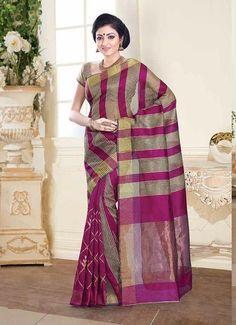 Mirage Sarees Tussar Silk Designer Printed Saree PRJ4706