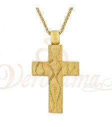 Σταυρός ανδρικός χρυσός Κ14 ST_024 Symbols, Letters, Letter, Lettering, Glyphs, Calligraphy, Icons