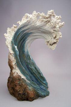 Denise Romecki Ocean-Inspired Ceramic Sculptures Resemble Cresting Waves.......