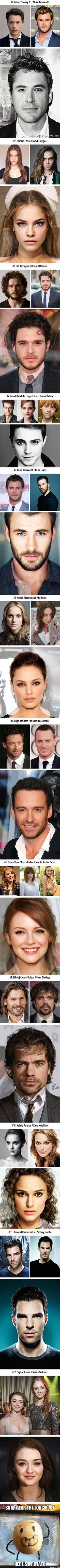 Celebrity Face Mashups (By ThatNordicGuy) celebridades combinación de caras