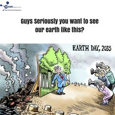 """It takes so many years to grow one TREE and a single sec to  vanish it """". #GNRewastemangement #environment #MondayMotivation #Earth #future"""