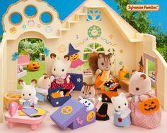 C'est l'heure des préparatifs d'Halloween à la crèche de la forêt ! #sylvanianfamilies #halloween
