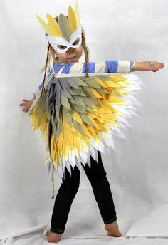 Deluxe Bird Set Small -  Childrens costume fancy dress kids Halloween wings & mask