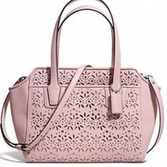 Coach Eyelet Leather Mini Tote / Crossbody - $245 Iove the eyelet leather , i love the white bag  and wallet i have  in the eyelet leather