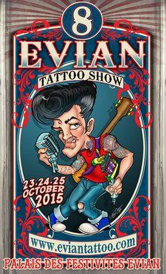 tattoo show EVIAN le 23/24/25 octobre Palais des Congrès d'Evian-les-Bains Place Peintre Charles Cottet