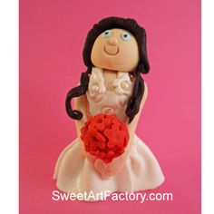 Love making fondant characters - this is a bride I made.