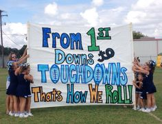 Run thru sign - From 1st Downs to Touchdowns That's How We Roll!