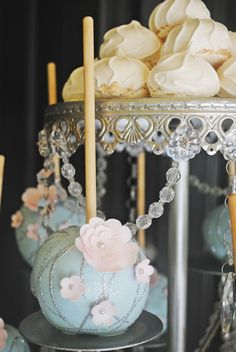 Stunning treats at a Baby Shower!  See more party ideas at CatchMyParty.com!  #partyideas #babyshower