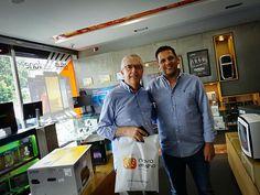 Hoje recebemos a visita de um cliente fidelizado Sr.Mário Augusto muito respeitado na indústria televisiva.