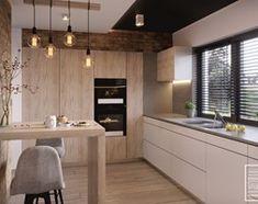 Nowoczesne wnetrze kuchni i salonu - zdjęcie od Kwadrat Design Studio
