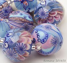 "Artisan Lampwork Beads by Romana - ""We can fly!"" #ArtisanLampworkBeads"
