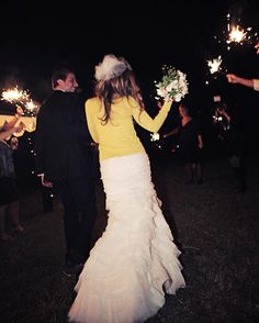 I want sparklers at my wedding!