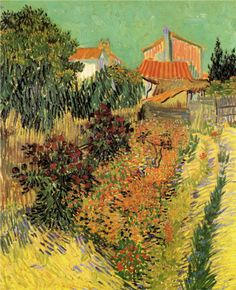 Garden Behind a House    Artist: Vincent van Gogh    Completion Date: 1888    Place of Creation: Arles ..................#GT