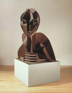 Naum Gabo 'Head No. enlarged version 1964 The Work of Naum Gabo © Nina & Graham Williams/Tate, London a pioneer of kinetic art Alexander Rodchenko, Modern Art, Contemporary Art, Steel Paint, Tate Gallery, Kinetic Art, Art Abstrait, Elements Of Art, Sculpture Art