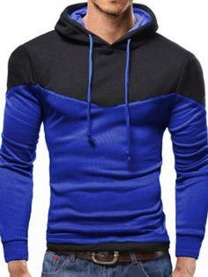 Sudadera Hombre con Capucha Color Empalde Mens Fashion Wear, Suit Fashion, Mens Sweatshirts, Hoodies, Mens Clothing Styles, Pull, Men Casual, Clothes, Men's Sweatshirts
