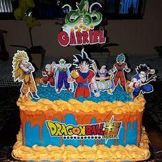 Bolo dragon ball: 50 modelos fantásticos e especiais que preparamos para se inspirar! Dragon Birthday, 8th Birthday, Tarta Dragon Ball, Dragonball Z Cake, Pastel Rectangular, Rectangle Cake, Anime Cake, Birthday Cake Decorating, Themed Cakes