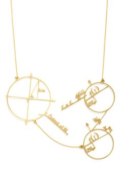 Cute and Astute Necklace, #ModCloth