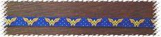 3/8 Wide Custom Made Adjustable Wonder Woman Grosgrain Breakaway Cat Collar or Dog Collar by BarksBowsAndCollars on Etsy