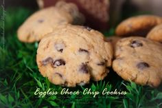 Eggless Choco Chips Cookies