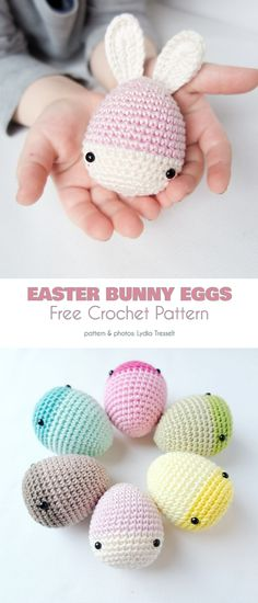 rabbit to sew Easter Bunny Egg Free Crochet Patterns Crochet Easter, Easter Crochet Patterns, Crochet Bunny, Crochet For Kids, Crochet Pattern Free, Felt Crafts Patterns, Felt Crafts Diy, Easter Bunny Eggs, Bunnies