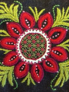 Part of wool embroidery                                                                                                                                                     More