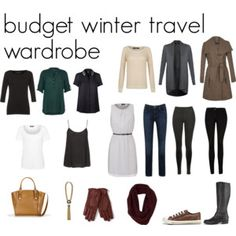 budget winter travel wardrobe