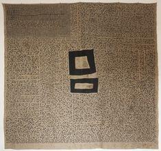 Letter. Amparo de la Sota. Linen, cotton, ink. 150x150cm. Embroidery.