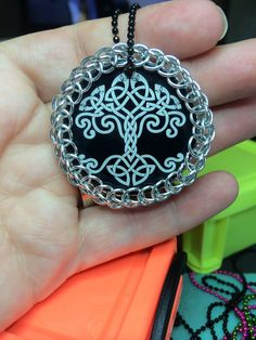 A personal favorite from my Etsy shop https://www.etsy.com/listing/206638176/celtic-tree-chainmaille-pendant
