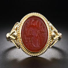 22 Karat Carnelian Intaglio Ring - 30-1-5075 - Lang Antiques