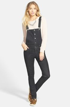 Fire+Button+Front+Denim+Overalls+available+at+#Nordstrom