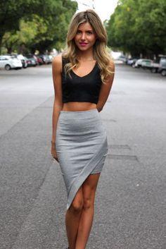 tight grey skirt - Google Search