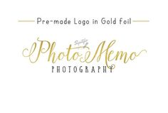 Premade Gold Foil Name Logo Gold Leaf Logo Photography Logo Order Business Cards, Business Names, Watermark Design, Logo Design, Gold Leaf, Gold Foil, Name Signature, Camera Logo, Photographer Logo