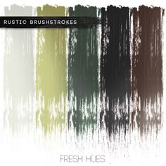 *brushstrokes* | fresh hues Some greens