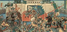 Tsûzoku Sangokushi no uchi: Ryû Gentoku Hokkai e kakomi otoku (A Popular Romance of the Three Kingdoms, 通俗三国志之内: 劉玄徳北海解圍) Kuniyoshi 1853
