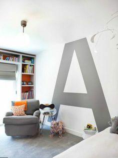 Bogstaver til væggen