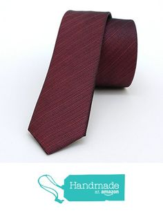 "Claret red striped men's tie 4 cm (1,57"") DK-584 from Nazo Design https://www.amazon.com/dp/B01FPI2EB4/ref=hnd_sw_r_pi_dp_p655xbBAC79AC #handmadeatamazon #nazodesign"