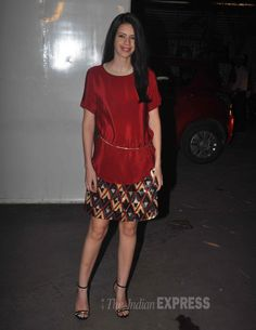 Kalki Koechlin was all dressed up in a red blouse with a skirt by Shift by Nimish Shah at the special screening of 'Happy Ending'.