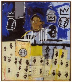 basquiat crown | Jean-Michel Basquiat, Untitled (1981). Acrylic, oil stick, spray-paint ...