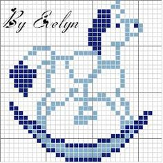 This Pin was discovered by Cor Easy Cross Stitch Patterns, Cross Stitch For Kids, Simple Cross Stitch, Cross Stitch Baby, Cross Stitch Charts, Cross Stitch Designs, Cross Stitch Horse, Cross Stitch Alphabet, Cross Stitch Animals