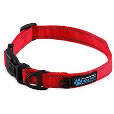 Max and Neo™ NEO Nylon Buckle Reflective Dog Collar - We Donate a Collar to a Dog Rescue for Every Collar Sold (MEDIUM, RED) --- You could find more details by visiting the image link. (This is an affiliate link and I receive a commission for the sales)