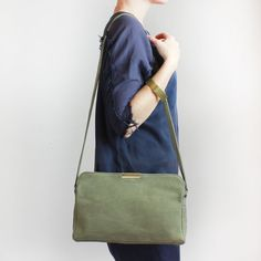 Anais in sage nubuck #handbag by Shannon South