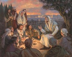 Justin Kunz Christ Teaching His Disciples.  I love that women were in his close circle of devoted disciples.