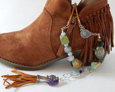 Turquoise Statement Necklace Turquoise Boho Necklace Natural Gemstones Raw Amethyst Turquoise Bohemian Necklace Boho Tassel Necklace by BeadIndulgences on Etsy