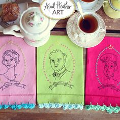 These make a great gift for a Downton Abbey Fan - Downton Abbey Embroidery Pattern: Dowager Countess, Earl of Grantham, Lady Grantham