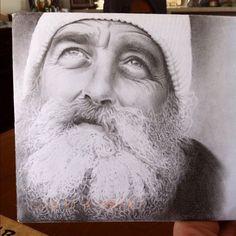Pencil Drawing on Envelope by Tattoo Artist Chris Nieves
