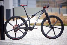 Bike ahead wheels on Epic Sworks