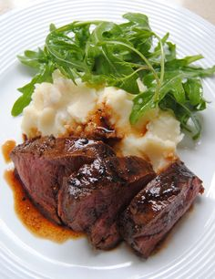 Heaven on a plate: Fillet, Mash and Rocket with Balsamic glaze   Scrumptious South Africa